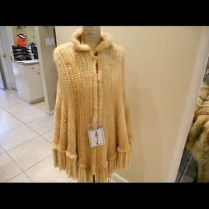 New Dicker and Dicker Gold dyed knitted mink cape